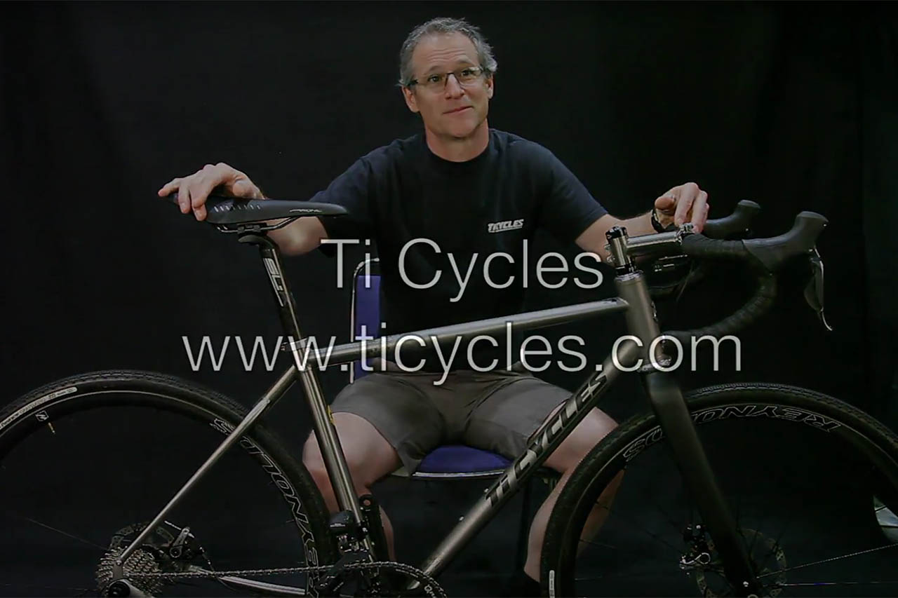 Video: David Levy of Ti Cycles shows a beautiful titanium gravel road bike