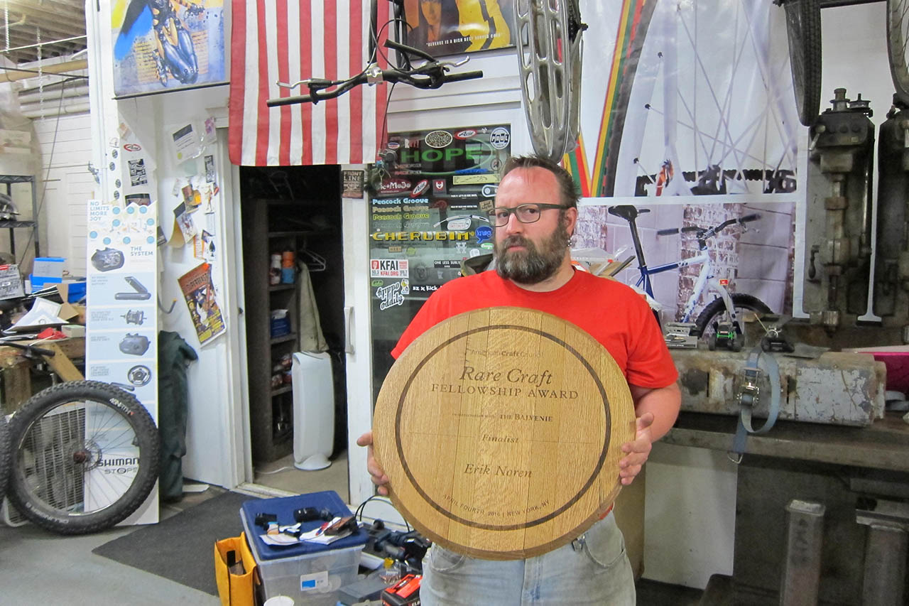 Erik Noren honored with Rare Craft award